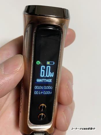CBDリキッドをテクニカルMODで吸う方法と『最適なW数(電圧)』