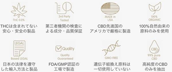 【Octo(オクト)】CBDオイルの製品特徴